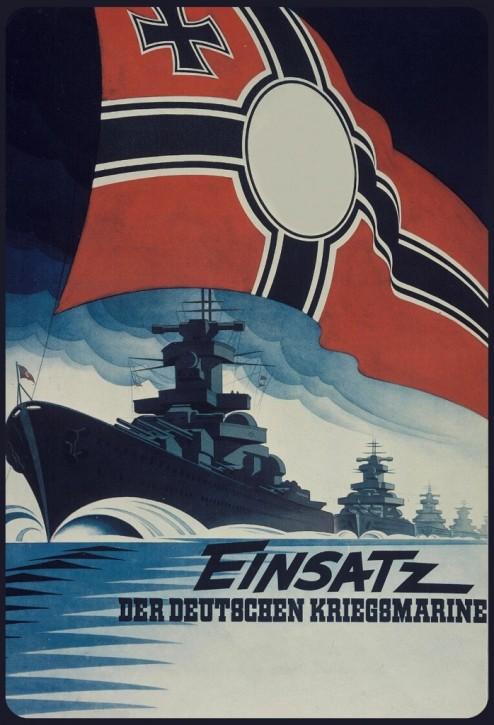 Werbeschild Einsatz der Dt. Kriegsmarine