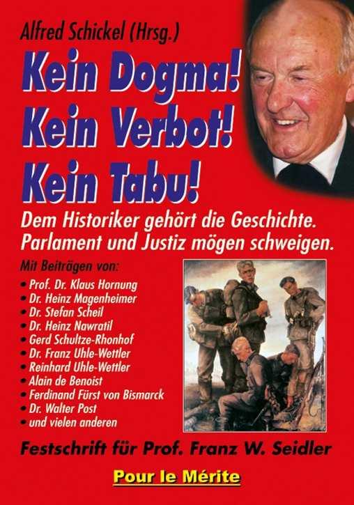 Schickel, Alfred (Hrsg.): Kein Dogma! Kein Verbot!