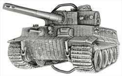 Gürtelschließe Tiger-Panzer