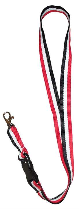 Schlüsselband schwarz-weiß-rot