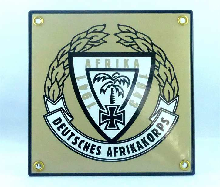 Emailleschild Afrikakorps