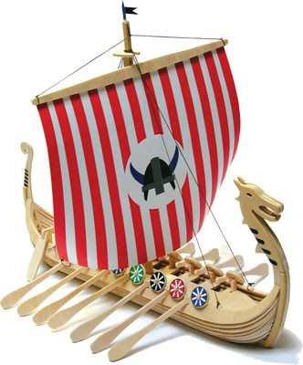 Holzbausatz - Wikingerschiff Odin