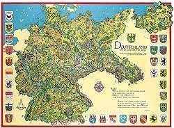 Bildwandkarte Deutschland in den Grenzen von 1937