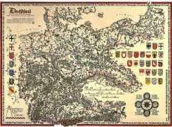 Bildwandkarte Deutschland und angrenzende Gebiete