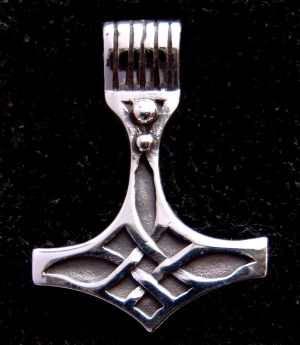 Anhänger Thors Hammer - Silber