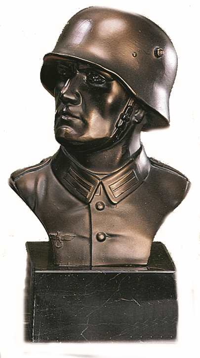 Bronzereplik Soldatenbüste II