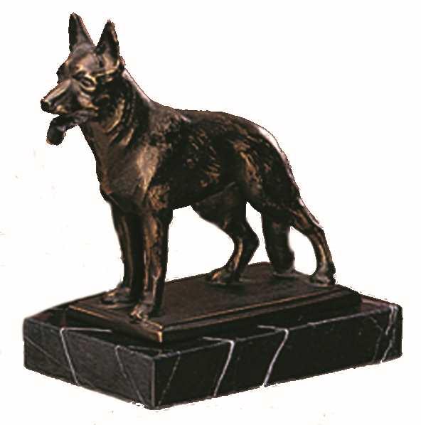 Bronzereplik Deutscher Schäferhund