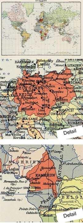 Bildwandkarte Weltkarte von 1941