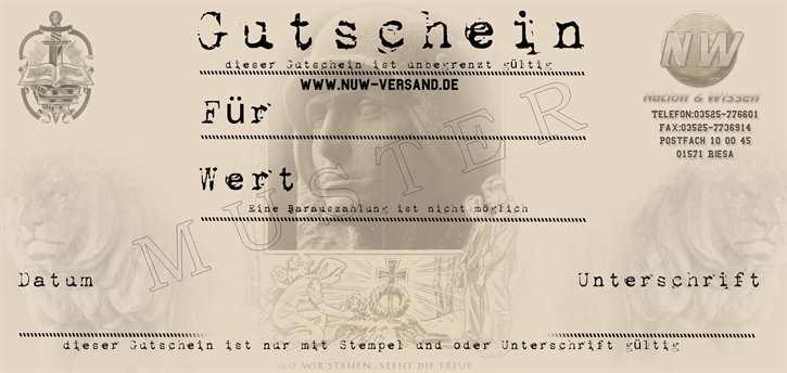 Gutschein - 50 €