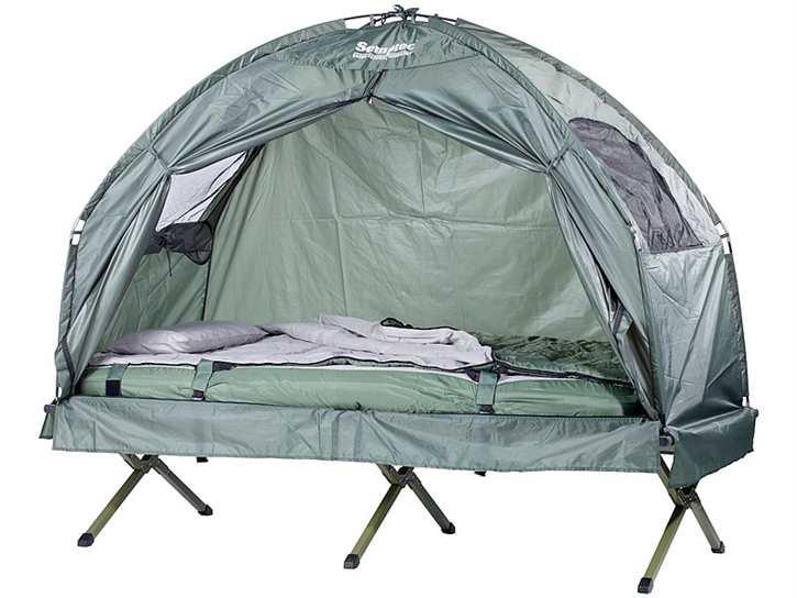 4in1-Zelt ink. Schlafsack, Matratze & Campingliege