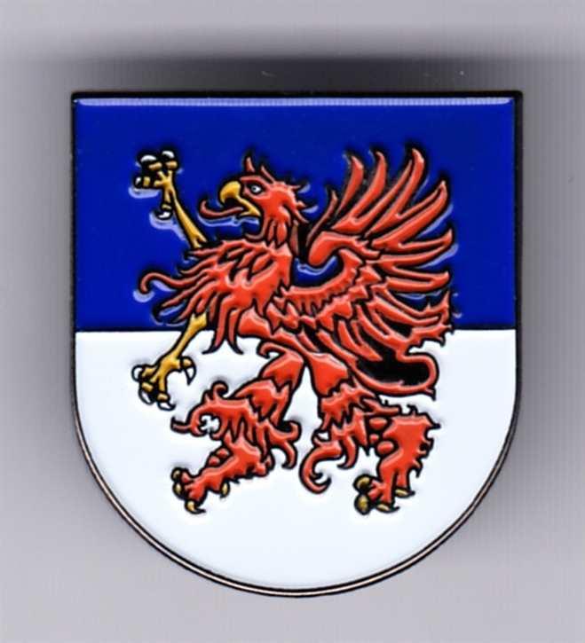 Anstecker Pommern Wappen
