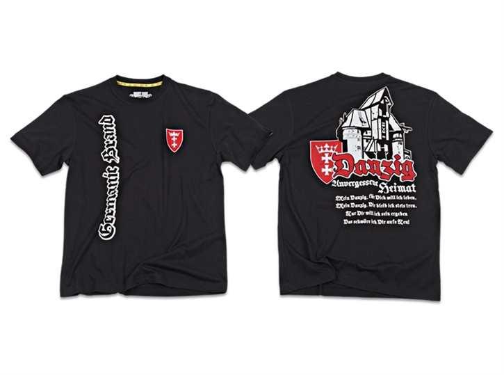"""T-Hemd """"Unvergessene Heimat - Danzig, schwarz"""