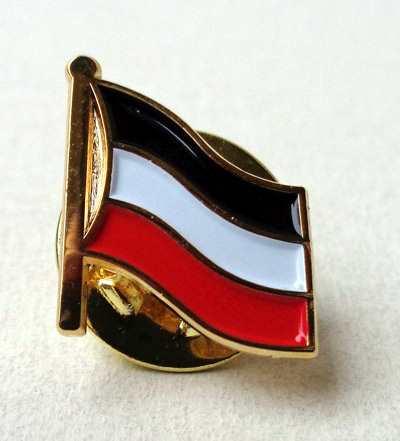 Miniatur Anstecknadel schwarz-weiß-rot