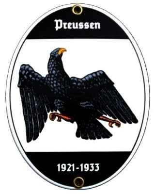 """Emailleschild """"Preußen"""""""