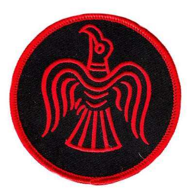 Aufnäher Odins Rabe, rot