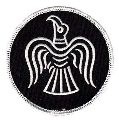 Aufnäher Odins Rabe, silber