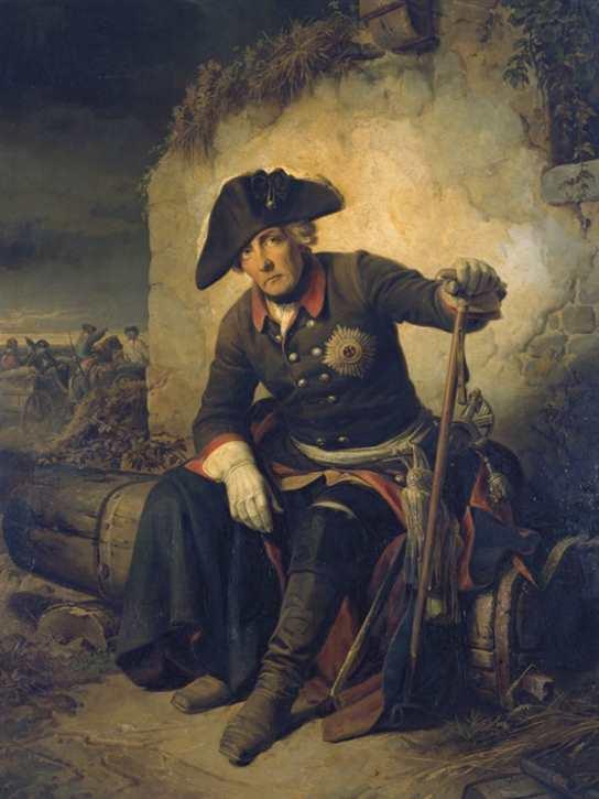 Kunstdruck Friedrich II. nach d. Schlacht v. Kolin