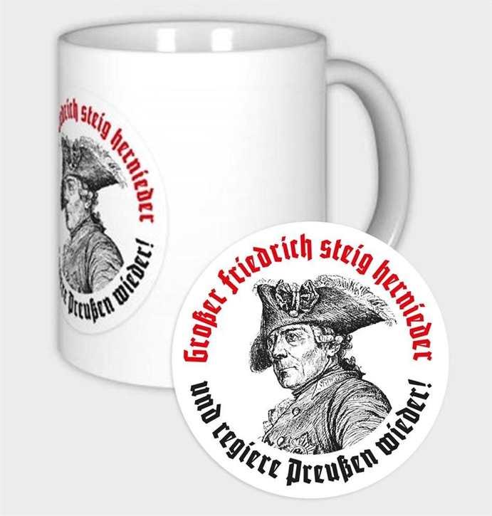 Tasse Großer Friedrich steig hernieder...