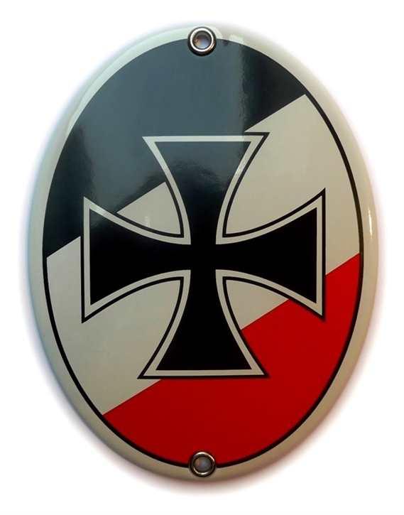 Emailleschild Eisernes Kreuz s/w/r
