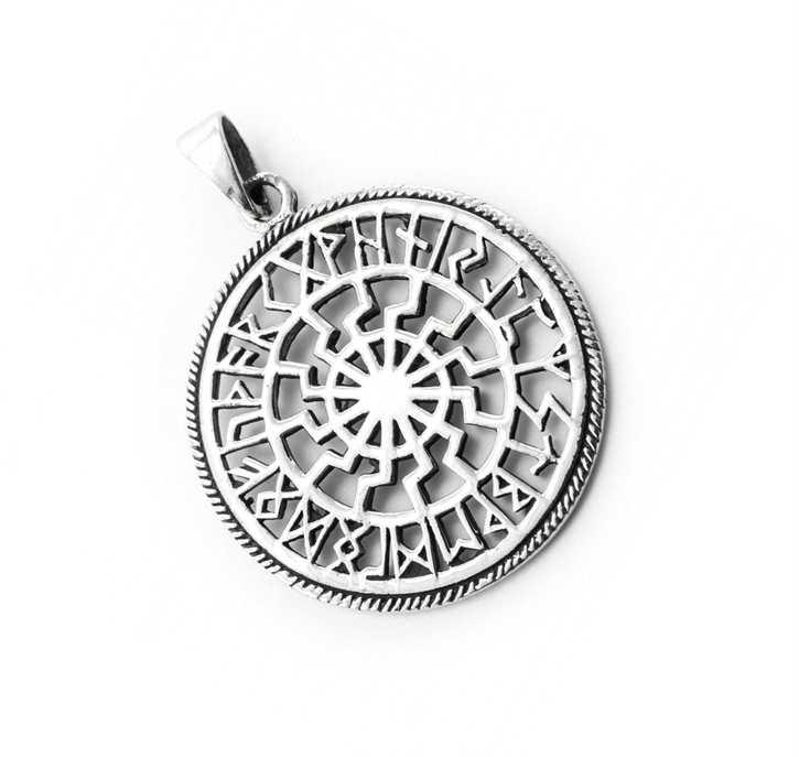 Anhänger Schwarze Sonne mit Runen