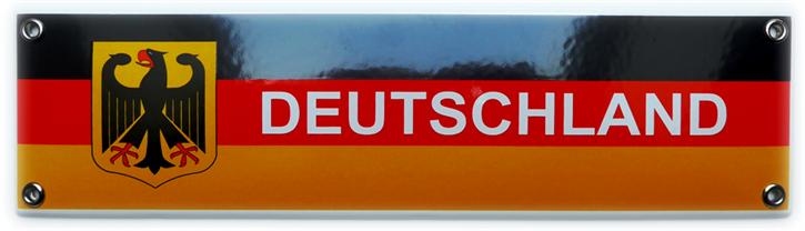 Emailleschild Deutschland II