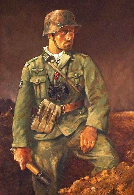 """Kunstdruck  """"...über allem steht die Infanterie"""""""