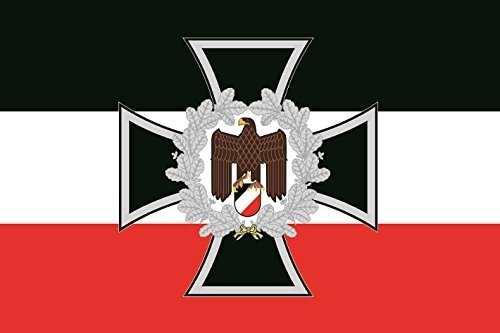 Aufkleber Eisernes Kreuz Adler Ehrenkranz s/w/r