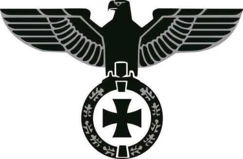 Aufkleber Adler Eisernes Kreuz, silber
