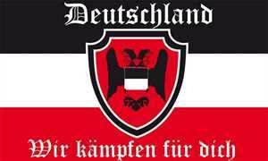 Fahne Deutschland - Wir kämpfen für dich