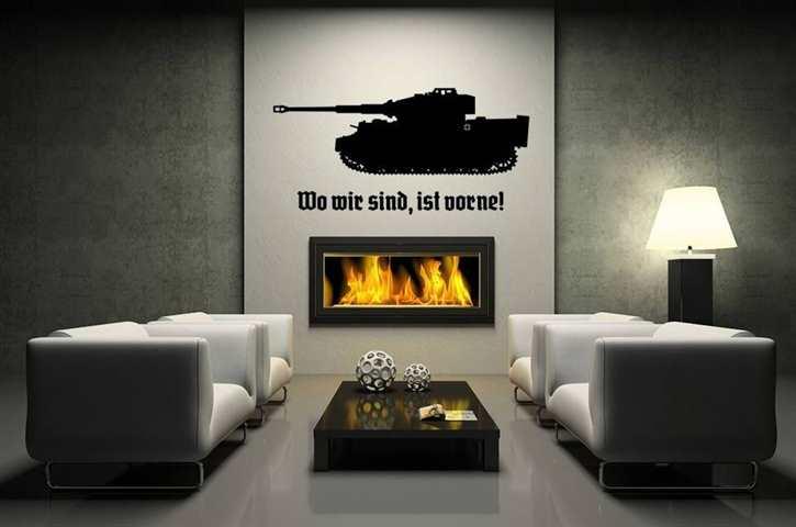 Wandtattoo Tiger-Panzer