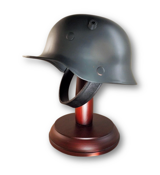 Sammleranfertigung Stahlhelm M16 auf Ständer