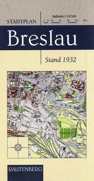 Stadtplan Breslau - Stand 1932