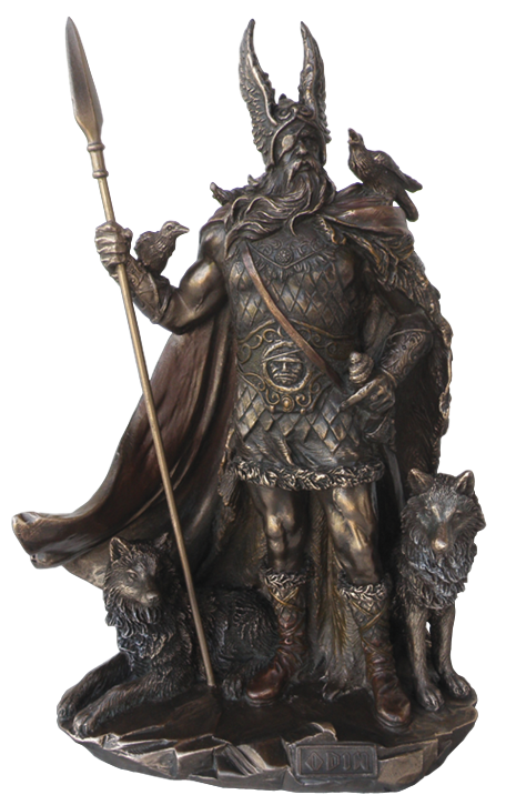 Göttervater Odin - bronziert