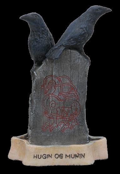 Hugin und Munin - Odins Raben auf Runenstein