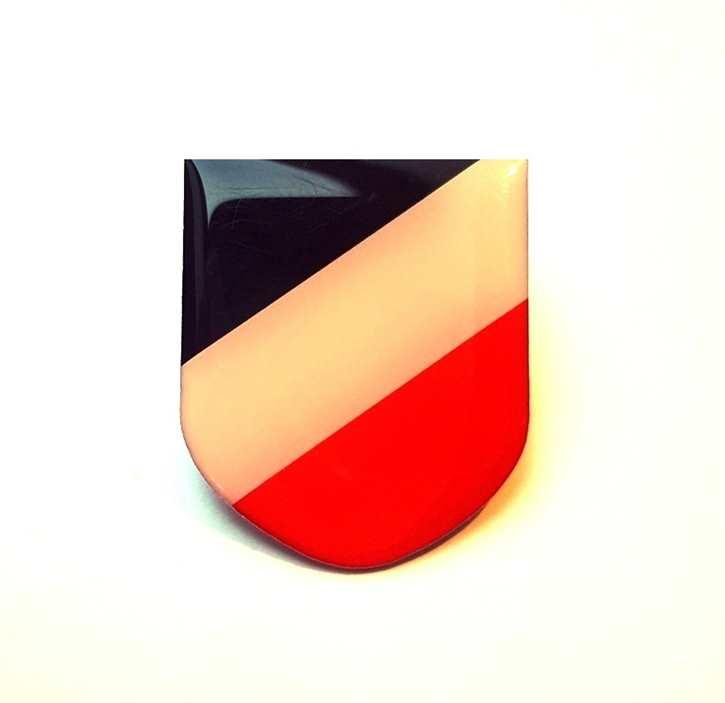Anstecker Wappen s/w/r