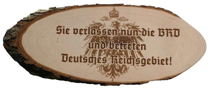 Holzscheibe Deutsches Reichsgebiet!