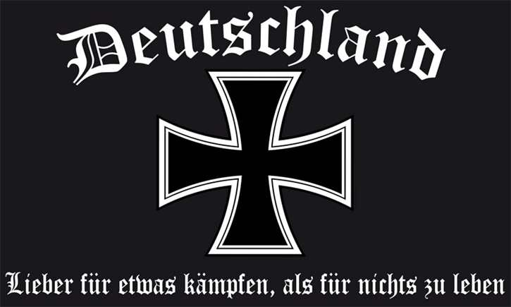 Fahne Deutschland - Lieber für etwas kämpfen...