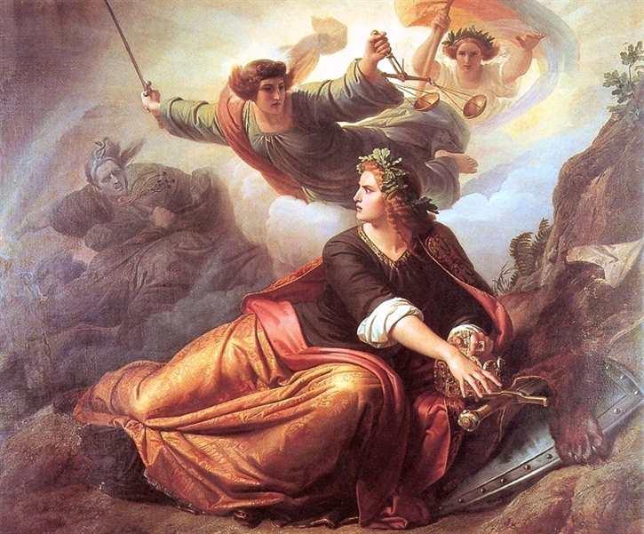 Kunstdruck Erwachende Germania 1848/49