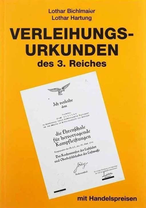 Bichlmaier: Verleihungsurkunden des 3. Reiches