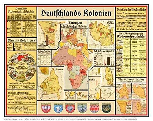 Bildwandkarte Deutschlands Kolonien