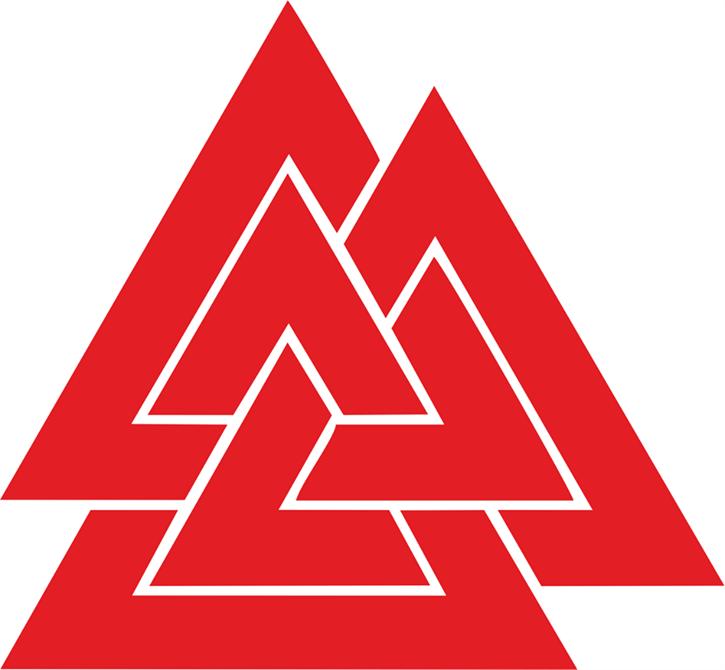 Aufkleber Wotansknoten, rot