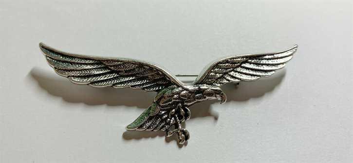 Anstecknadel Luftwaffe Brustadler, silber