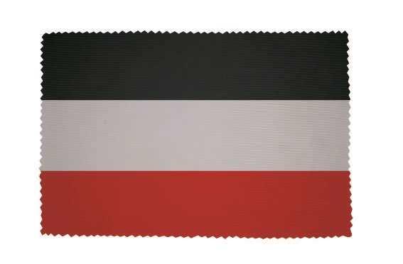Stoffdeckchen schwarz-weiß-rot