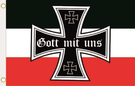 Fahne Eisernes Kreuz Gott mit uns