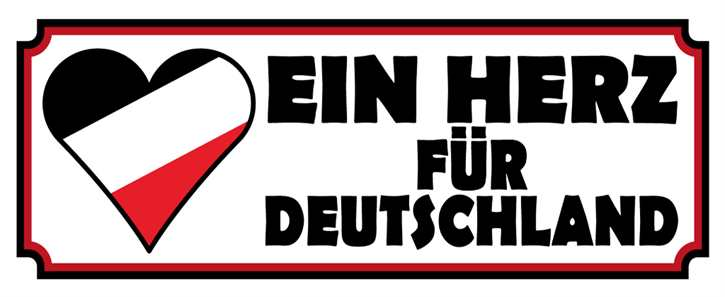 Werbeschild Ein Herz für Deutschland