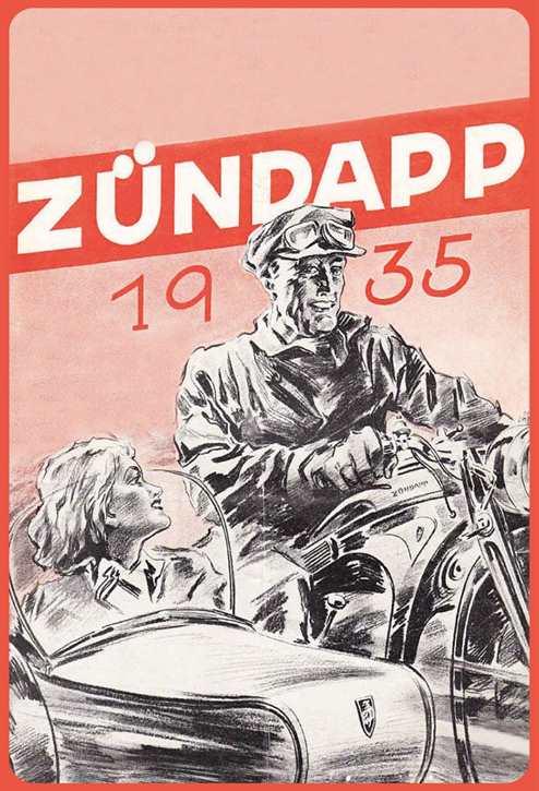 Werbeschild Zündapp 1935