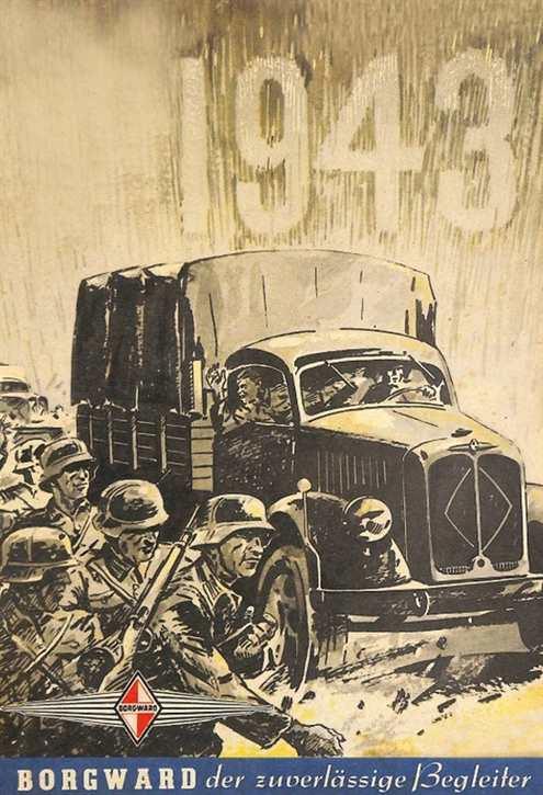 Werbeschild Borgward 1943