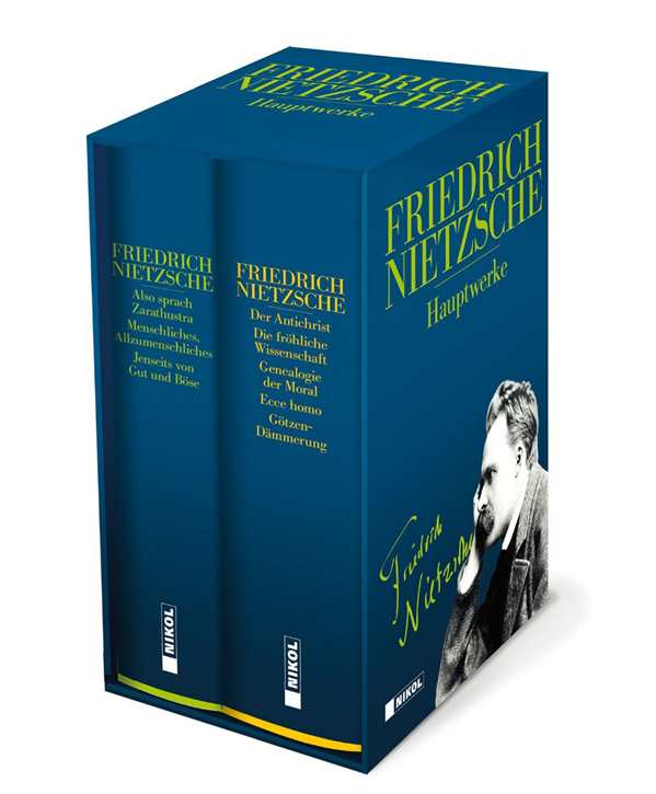 Nietzsche: Hauptwerke in zwei Bänden im Schuber