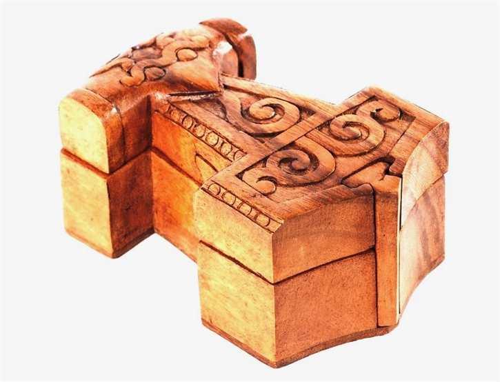 Schmuckdose aus Holz - Thorshammer