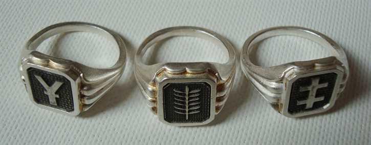 Konvolut 3 Erinnerungs-Ringe